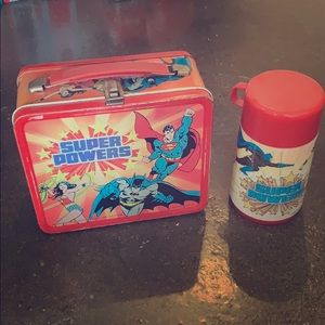 Super Powers Vintage Lunchbox w/ Thermos